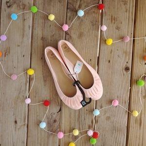 Pink Ballet Flats with Ruffles